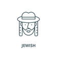 jewish line icon linear concept outline vector image
