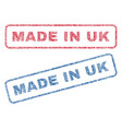 made in uk textile stamps vector image