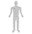 medieval sword person figure vector image vector image