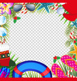 merry christmas and happy new year border in a vector image