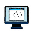 monitor coding programming design graphic hardware vector image vector image