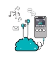 music player icon image vector image vector image