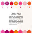 nail polish bottle banner template vector image