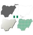 Nigeria outline map set vector image vector image