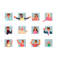 portraits communicating people vector image vector image