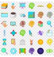 presentation icons set cartoon style vector image vector image
