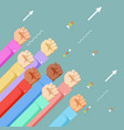 raised hands power anger vote gesture political vector image