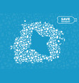 ray plastic waste ocean environment problem vector image vector image