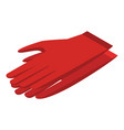 red gloves icon isometric style vector image vector image