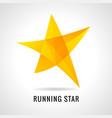 running star logo vector image