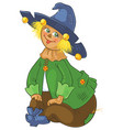 scarecrow wizard of oz cartoon vector image vector image