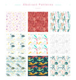 seamless abstract pattern collection vector image vector image