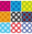 Seamless Cross weave Gingham Pattern vector image