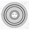 sun tattoo vector image vector image