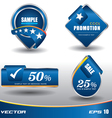 Tag blue modern vector image vector image