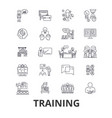 training business school online course learning vector image vector image