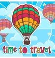 Travel poster with balloon vector image vector image