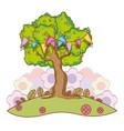 tree at nature vector image