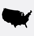 united states america island map silhouette vector image