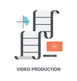 video production icon concept vector image