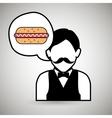 waiter restaurant service order vector image