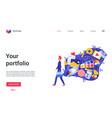 your portfolio landing page freelancer artist vector image vector image
