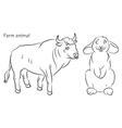 bull rabbit vector image