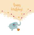 elephant card vector image