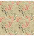 Seamless floral pattern with twigs and small vector image