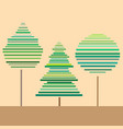 three trees vector image