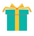green gift box icon vector image