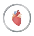 Heart icon in cartoon style isolated on white vector image