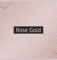 abstract pattern with rose gold imitation for vector image vector image