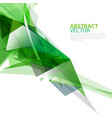 abstract transparent polygonal geometric template vector image