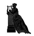 ancient greek woman vector image