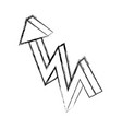 arrow pointing up vector image vector image