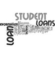 astrive student loans useful info text word cloud vector image vector image