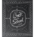 Back to school chalk lettering on black background vector image vector image