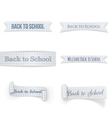 Back to School paper Ribbons Set vector image vector image