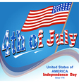 background for independence day of America vector image vector image