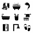 Bathroom icon set vector image vector image