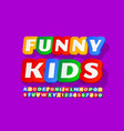 brightl sign funny kids sticker style font vector image