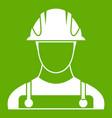 builder icon green vector image vector image