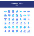 business and finance icon filled outline set vol 1 vector image vector image