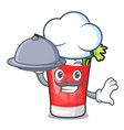 chef with food bloody mary mascot cartoon vector image
