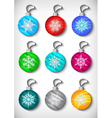 Christmas ball collection vector image vector image