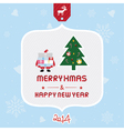 Christmas greeting card5 vector image vector image