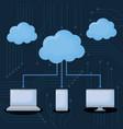 cloud storages design vector image vector image