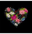 colorful floral heart for Valentines Day vector image
