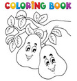 coloring book fruit theme 2 vector image vector image